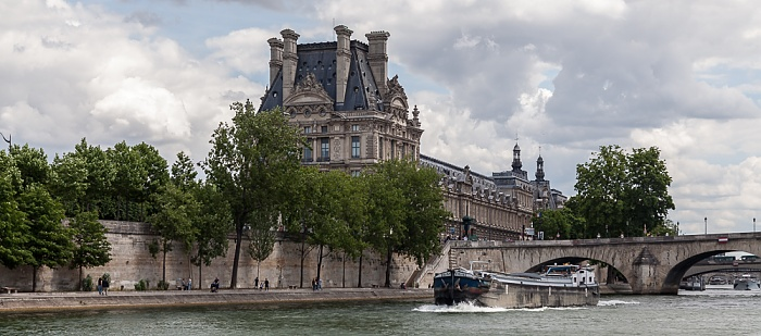 Paris Seine, Pont Royal, Quai des Tuileries, Musée du Louvre
