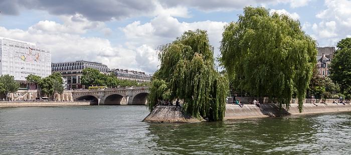 Seine, La Samaritaine, Pont Neuf, Square du Vert-Galant Paris