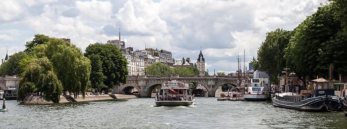Seine, Square du Vert-Galant, Île de la Cité, Pont Neuf, Quai de Conti Paris