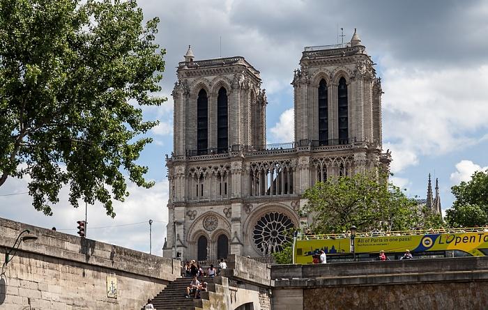 Île de la Cité mit der Notre-Dame de Paris Paris