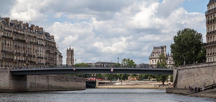 Seine, Pont Saint-Louis zwischen Île de la Cité (links) und Île Saint-Louis Paris