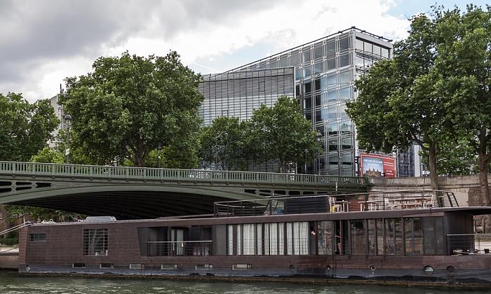 Seine, Port de la Tournelle, Pont de Sully, Institut du monde arabe Paris