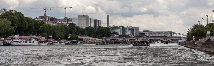 Seine, Pont d'Austerlitz, Quartier de Bercy Paris
