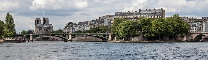 Seine, Pont de Sully, Notre-Dame de Paris, Île Saint-Louis mit dem Square Barye, Pont de Sully Paris