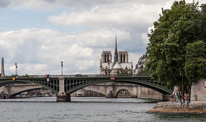 Seine, Pont de Sully, Île Saint-Louis Paris