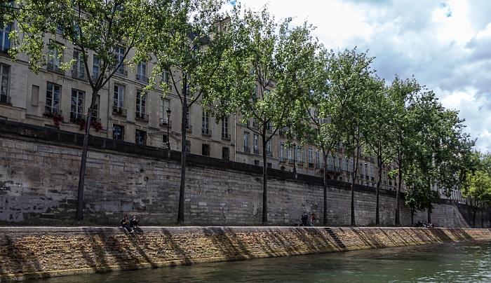 Seine, Île Saint-Louis mit dem Quai d'Anjou Paris