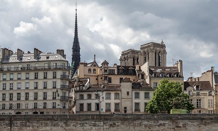 Seine, Île de la Cité mit dem Quai aux Fleurs Paris