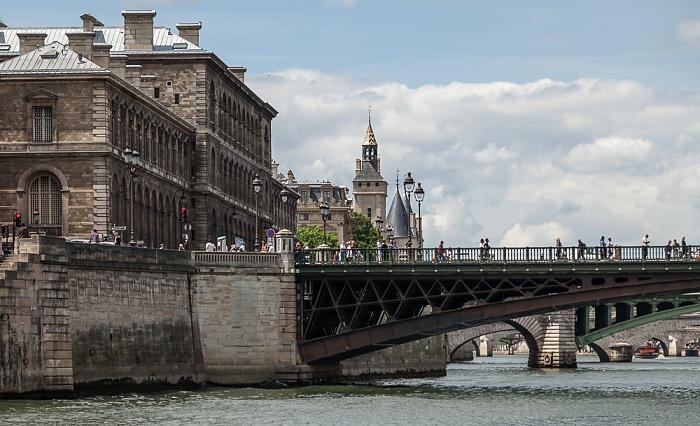 Seine, Pont d'Arcole, Île de la Cité mit dem Hôtel-Dieu de Paris Paris