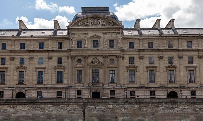 Île de la Cité mit dem Palais de Justice (Justizpalast) Paris
