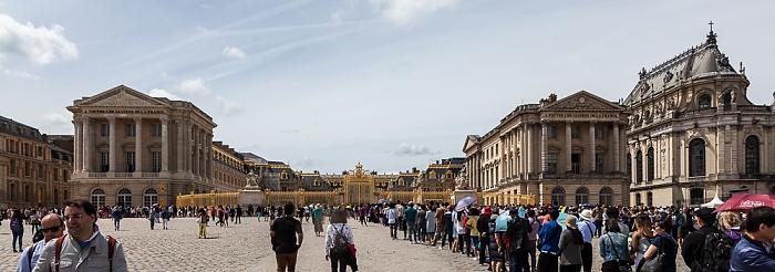 Place d'Armes, Ehrenhof (Cour d'Honneur), Schloss Versailles (Château de Versailles)
