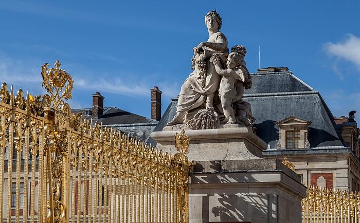 Schloss Versailles (Château de Versailles): Ehrenhof (Cour d'Honneur)