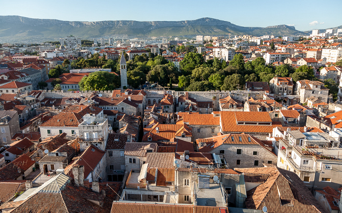Split Blick vom Turm der Kathedrale des Heiligen Domnius: Altstadt (Grad)