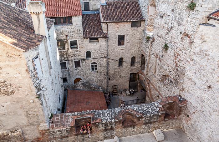 Split Blick vom Turm der Kathedrale des Heiligen Domnius: Diokletianpalast