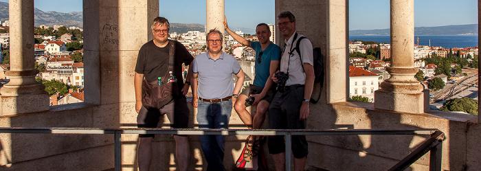 Split Turm der Kathedrale des Heiligen Domnius: Jürgen, Uwe, Ralph, Boris