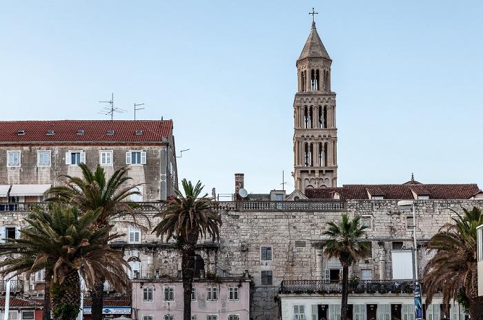 Split Altstadt (Grad): Obala Hrvatskog narodnog preporoda (Riva) Kathedrale des Heiligen Domnius
