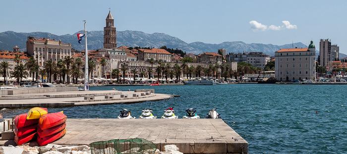 Split Hafen, Altstadt (Grad) mit Kathedrale des Heiligen Domnius