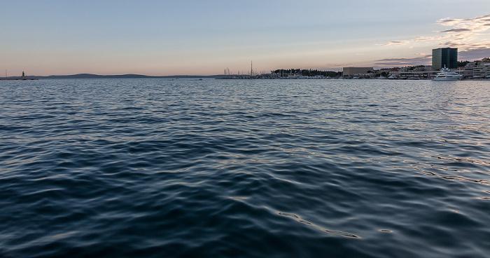 Split Hafen, Adriatisches Meer (Mittelmeer)