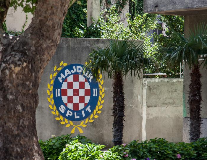 Omiš Stari Grad (Altstadt): Wappen von HNK Hajduk Split