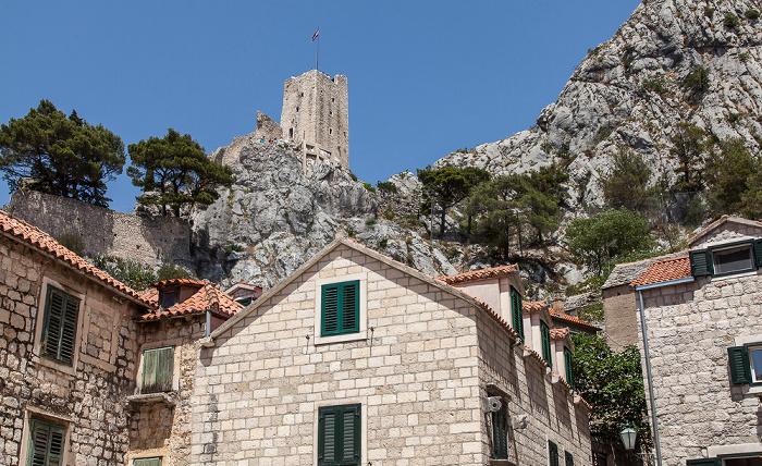 Omiš Stari Grad (Altstadt): Knezova Kačića Tvrđave Mirabella (Peovica)