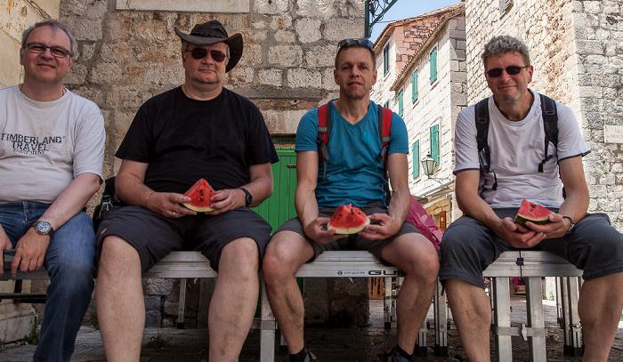 Omiš Stari Grad (Altstadt): Uwe, Jürgen, Ralph, Boris