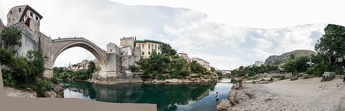 Mostar Altstadt: Alte Brücke (Stari Most), Neretva
