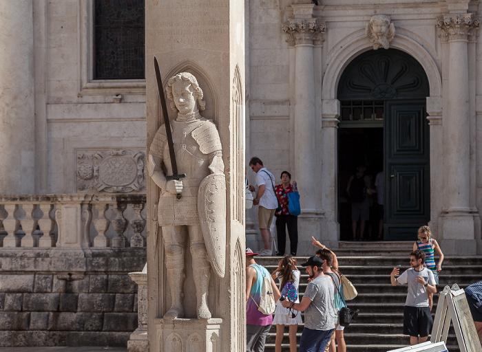 Altstadt (Grad): Luža-Platz mit Roland-Statue (Orlandov stup) Dubrovnik
