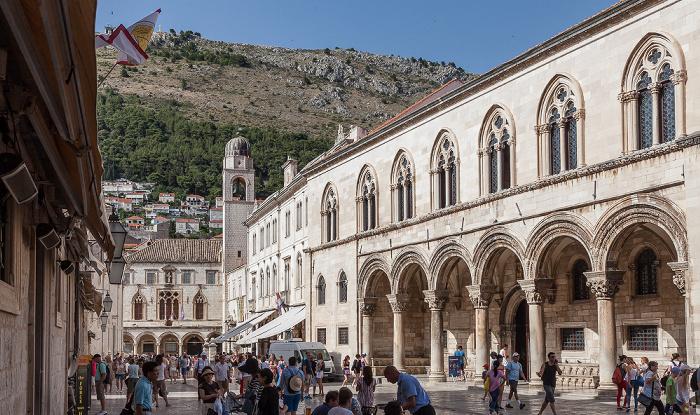 Altstadt (Grad): Ulica Pred Dvorom - Rektorenpalast (Knežev Dvor) Dubrovnik