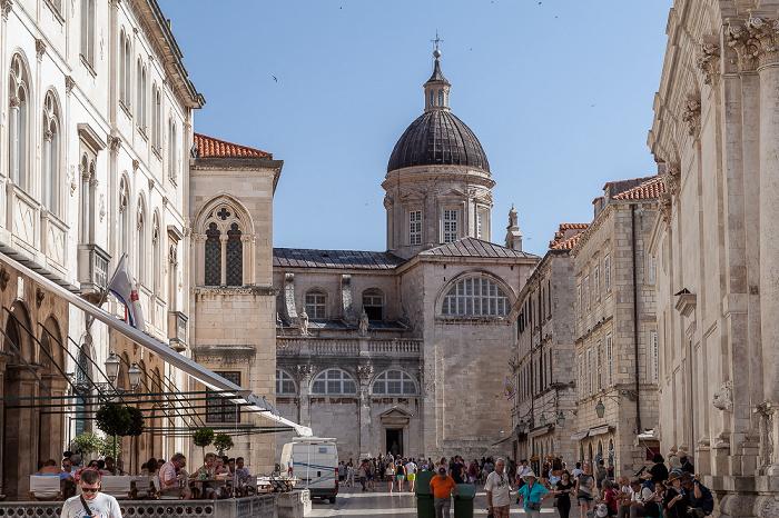 Altstadt (Grad): Ulica Pred Dvorom - Kathedrale Mariä Himmelfahrt (Katedrala Uznesenju Blažene Djevice Marije na nebo) Dubrovnik
