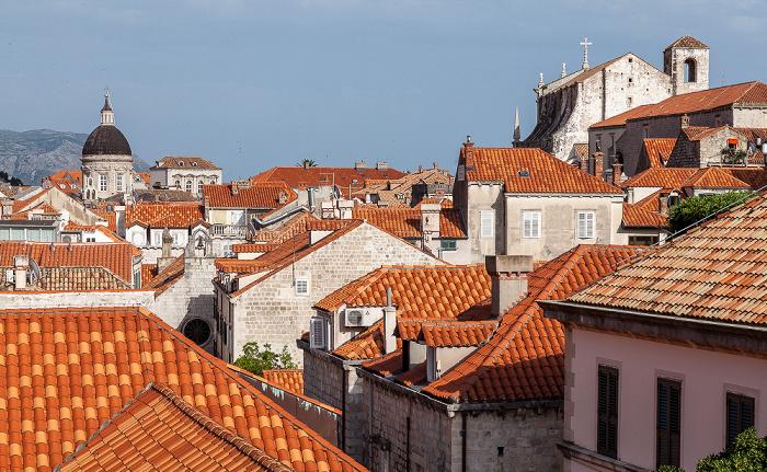 Dubrovnik Blick von der Stadtmauer: Altstadt (Grad) Jesuitenkirche St. Ignatius Kathedrale Mariä Himmelfahrt