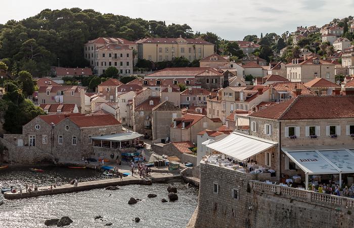 Blick von der Stadtmauer: Westhafen Dubrovnik