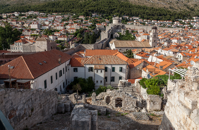 Blick von der Stadtmauer: Altstadt (Grad) Dubrovnik