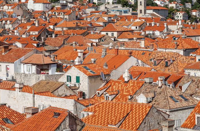 Blick von der Stadtmauer: Dächer der Altstadt (Grad) Dubrovnik