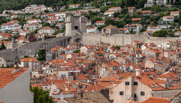 Dubrovnik Blick von der Stadtmauer: Altstadt (Grad)