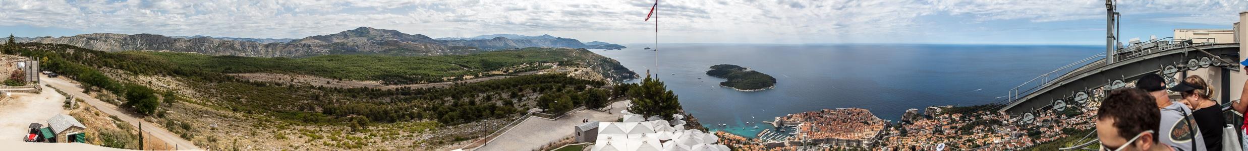 Brdo Srđ, Adriatisches Meer (Mittelmeer), Altstadt (Grad) Dubrovnik