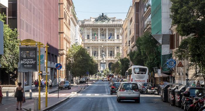 Rom Von vorne: Via Cicerone, Piazza Cavour mit dem Monumento a Cavour, Palazzo di Giustizia