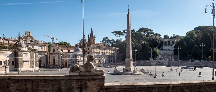 Piazza del Popolo: Obelisco Flaminio Rom