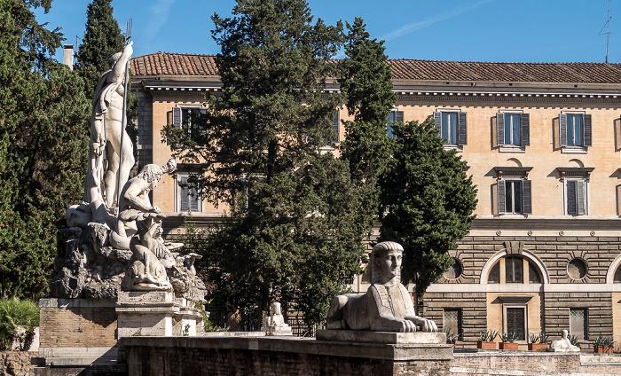 Piazza del Popolo: Fontana del Nettuno Rom