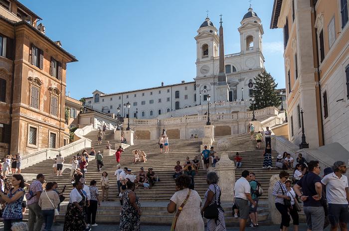 Piazza di Spagna: Spanische Treppe, Chiesa della santissima Trinità dei Monti Rom