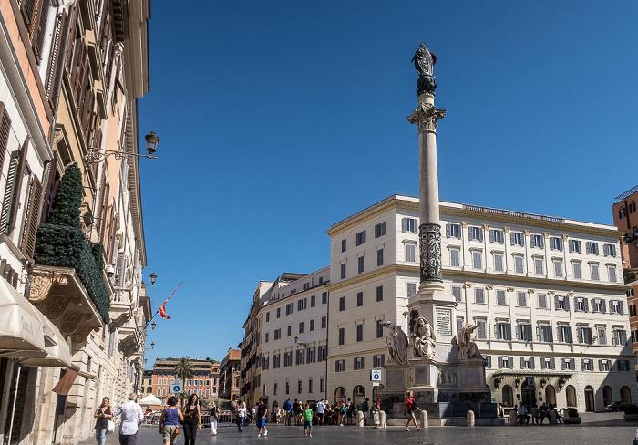 Piazza di Spagna: Colonna dell'Immacolata Rom