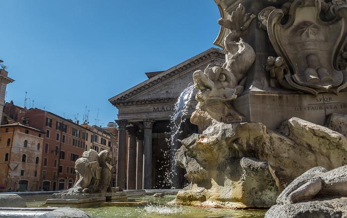 Piazza della Rotonda: Fontana del Pantheon Rom