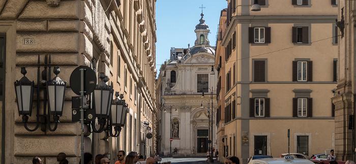 Via di San Claudio: Chiesa dei Santi Claudio e Andrea dei Borgognoni Rom