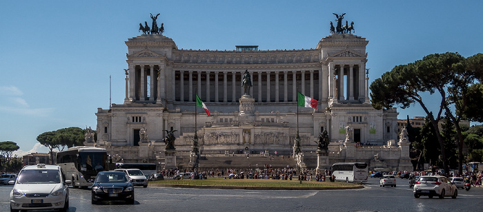 Piazza Venezia: Monumento Vittorio Emanuele II Rom