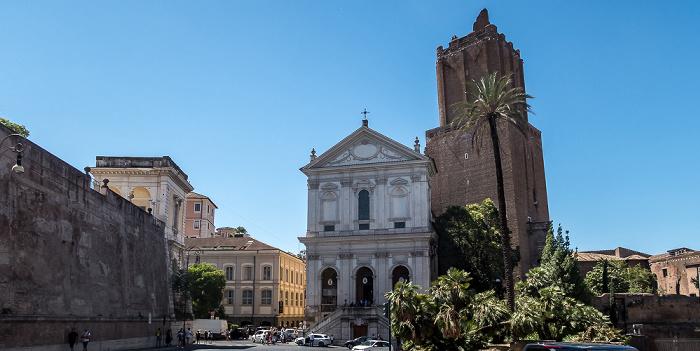 Largo Magnanapoli: Chiesa di Santa Caterina a Magnanapoli, Torre delle Milizie Rom