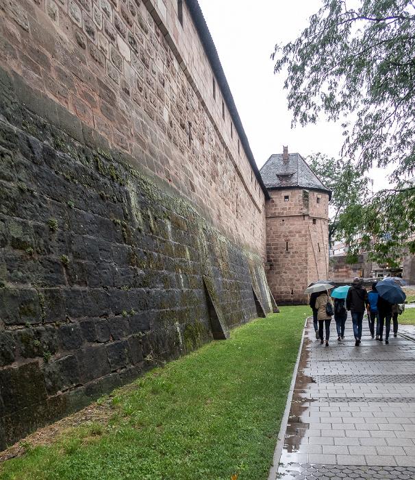 Nürnberg Frauentorgraben, Frauentormauer