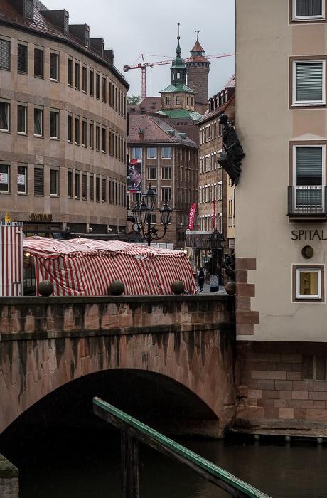 Nürnberg Museumsbrücke, Pegnitz