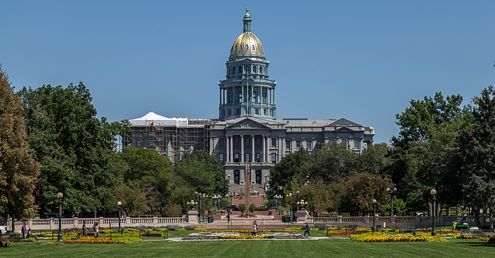 Denver Civic Center Park, Capitol Hill mit dem Colorado State Capitol Building