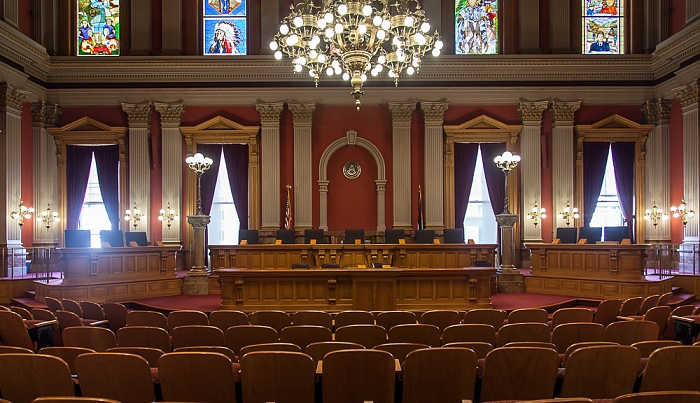 Denver Colorado State Capitol Building: Old Colorado Supreme Court Chamber