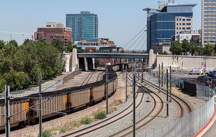 Denver Kohlezug Central Platte Valley Downtown Denver