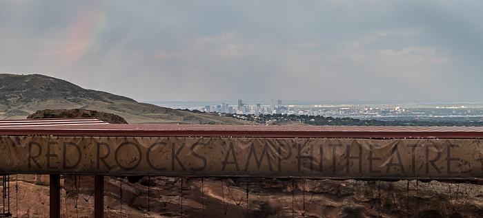 Morrison Blick vom Red Rocks Park in Richtung Denver Downtown Red Rocks Amphitheatre