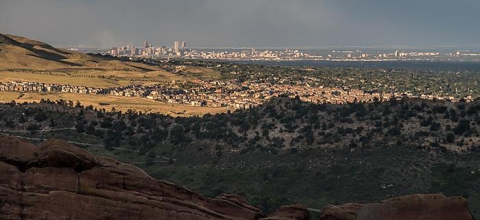 Morrison Blick vom Red Rocks Amphitheatre nach Denver Downtown